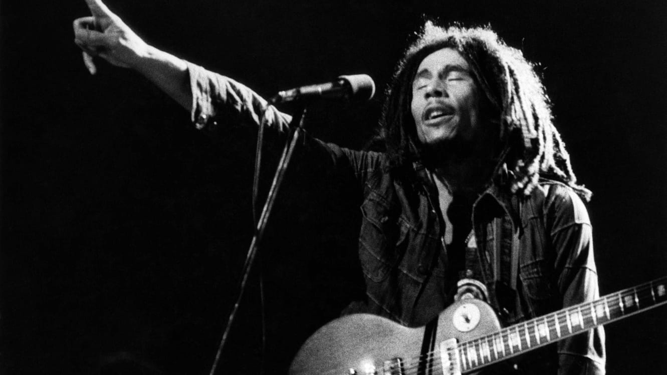 UNITED STATES - MAY 01:  USA  Photo of Bob MARLEY, Bob Marley performing live on stage  (Photo by Richard E. Aaron/Redferns)