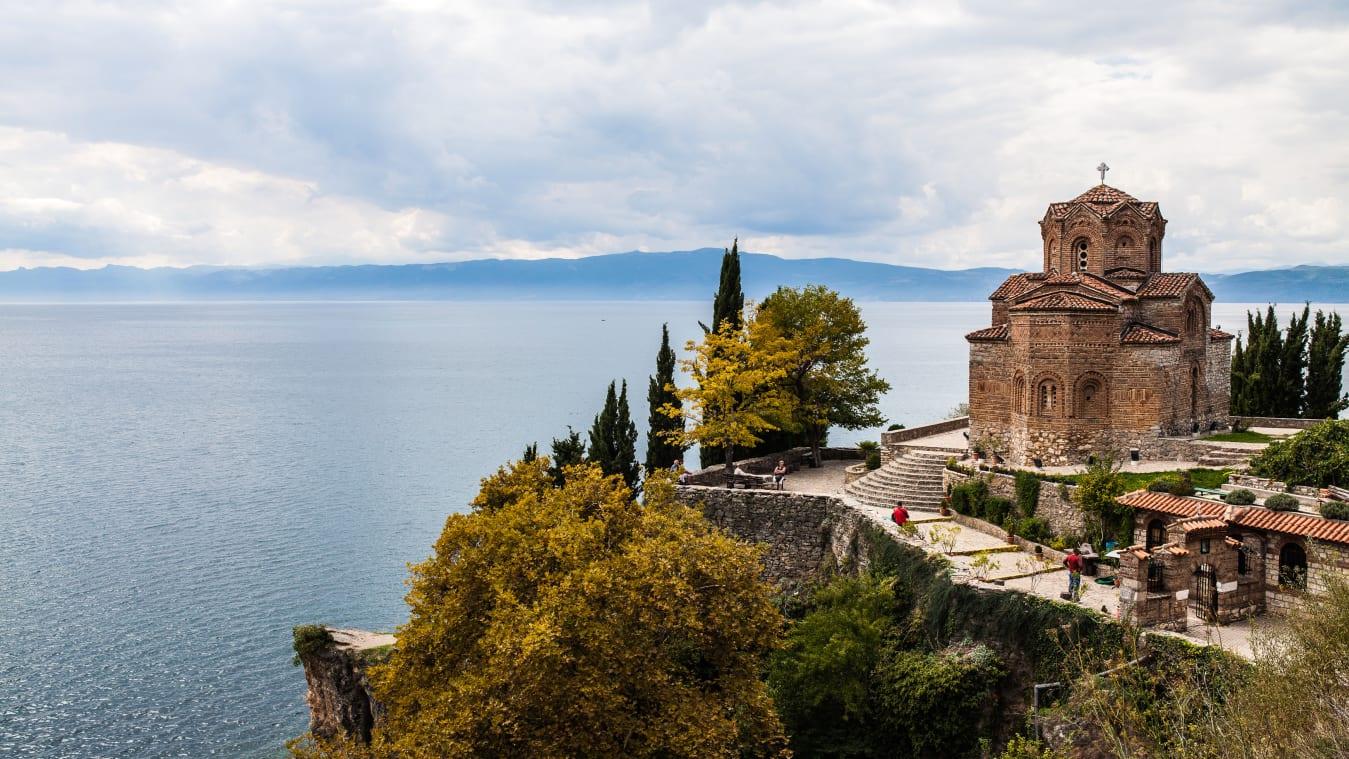 The Church of St. John at Kaneo in Ohrid, Macedonia.