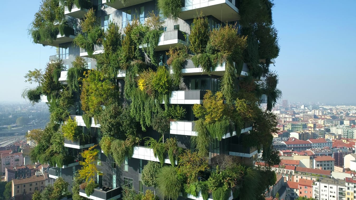 Il Bosco Verticale (Vertical Forest), in Milan, Italy.