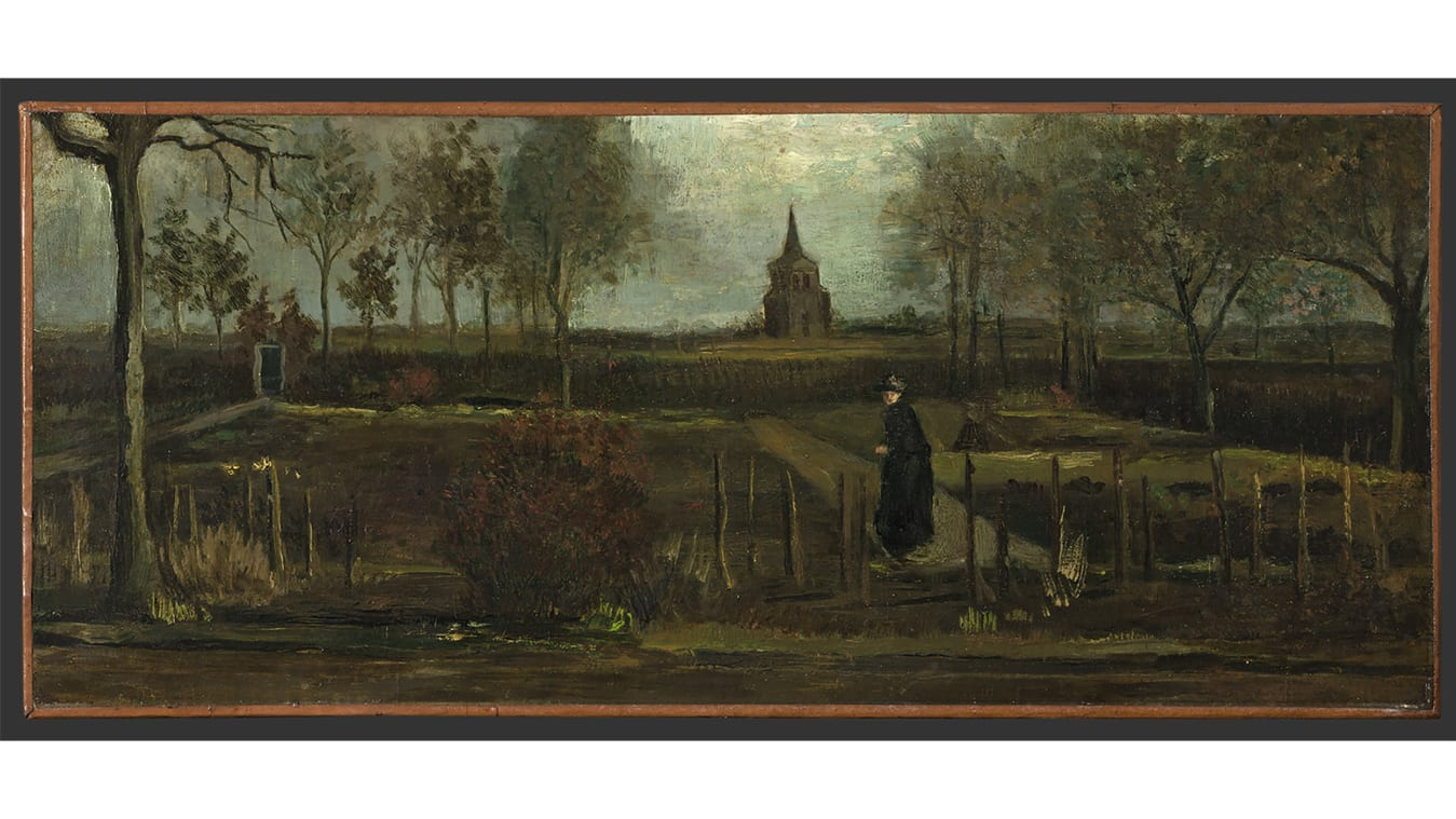 "Vincent van Gogh's ""The Parsonage Garden at Nuenen in Spring"" was stolen from the Singer Laren museum just outside Amsterdam. The painting was on loan from the Groninger Museum."