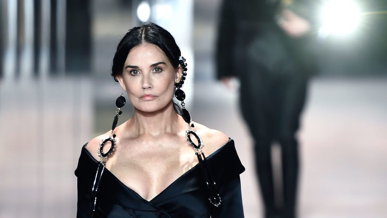 Demi Moore makes wonder cameo at Fendi's high fashion display