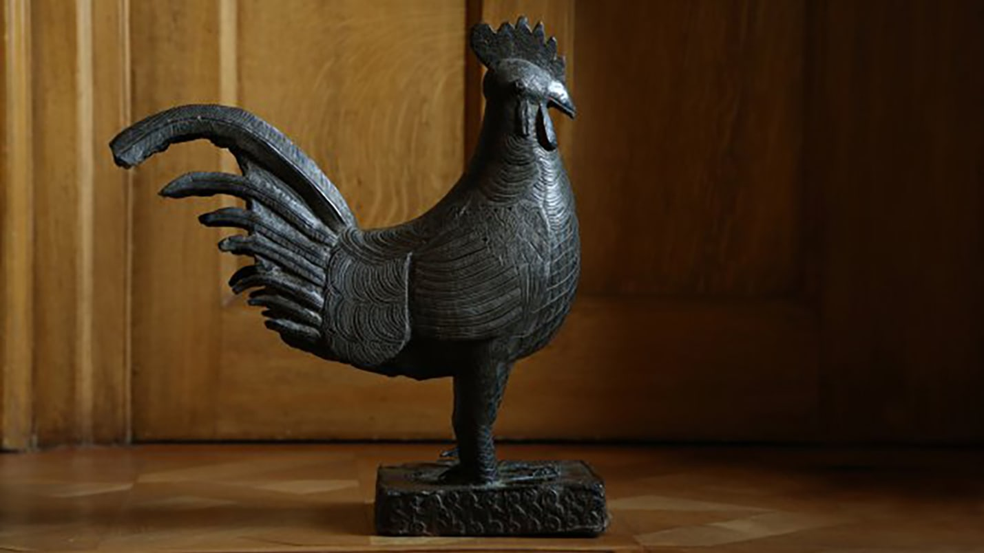 From college statement: Following interim recommendations from our Legacy of Slavery Working Party (LSWP), Jesus College has decided that a Benin Bronze statue of a cockerel will be returned, and that we will acknowledge and contextualise Tobias Rustat's role in our history.