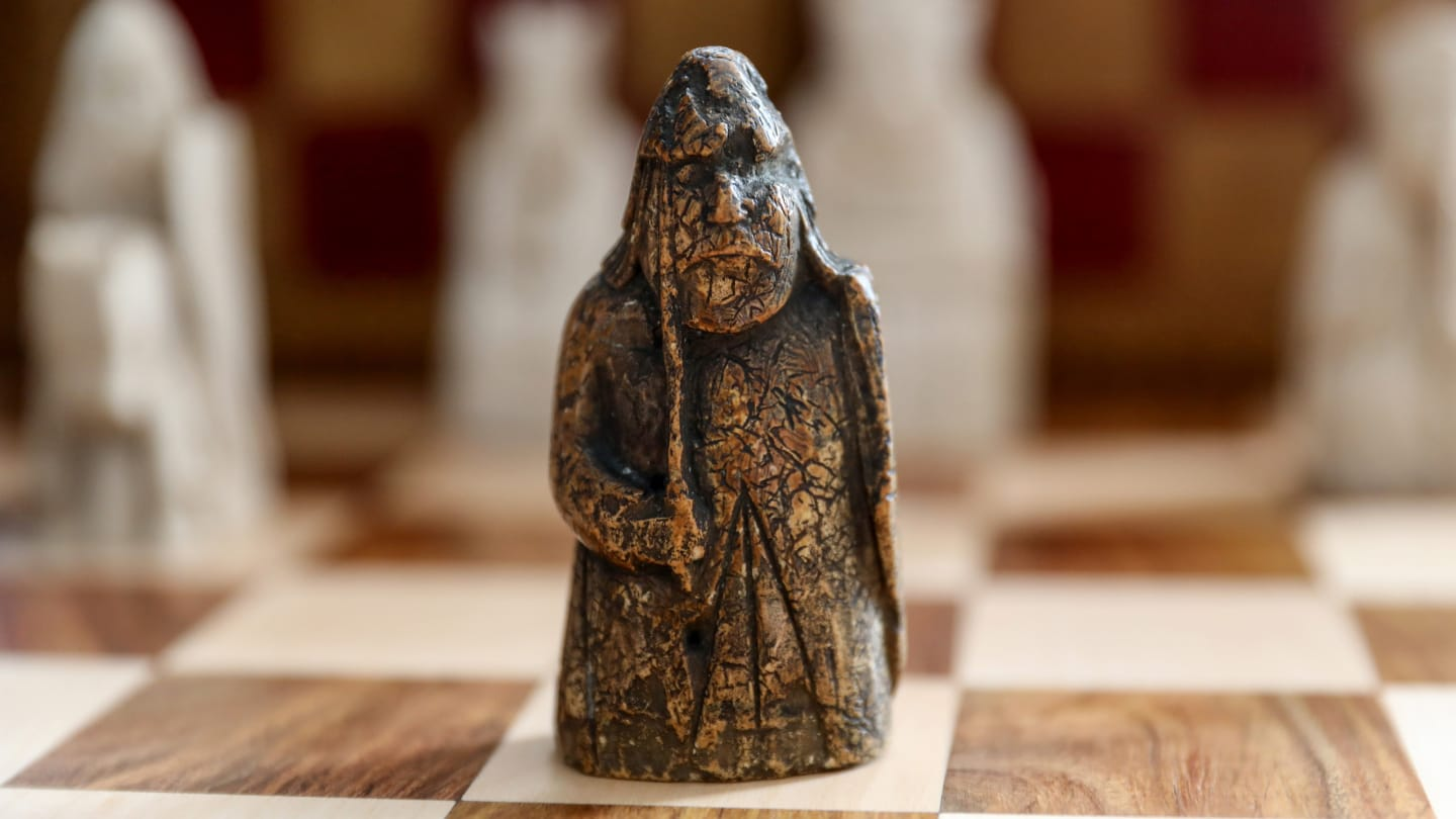 The chess piece was stored in a drawer for 55 years.