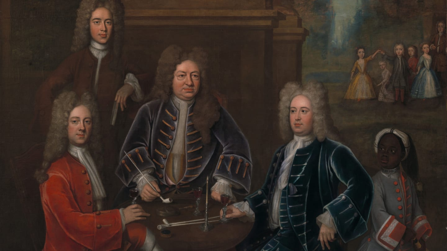 Attributed to John Verelst, Elihu Yale with Members of His Family and an Enslaved Child, ca. 1719