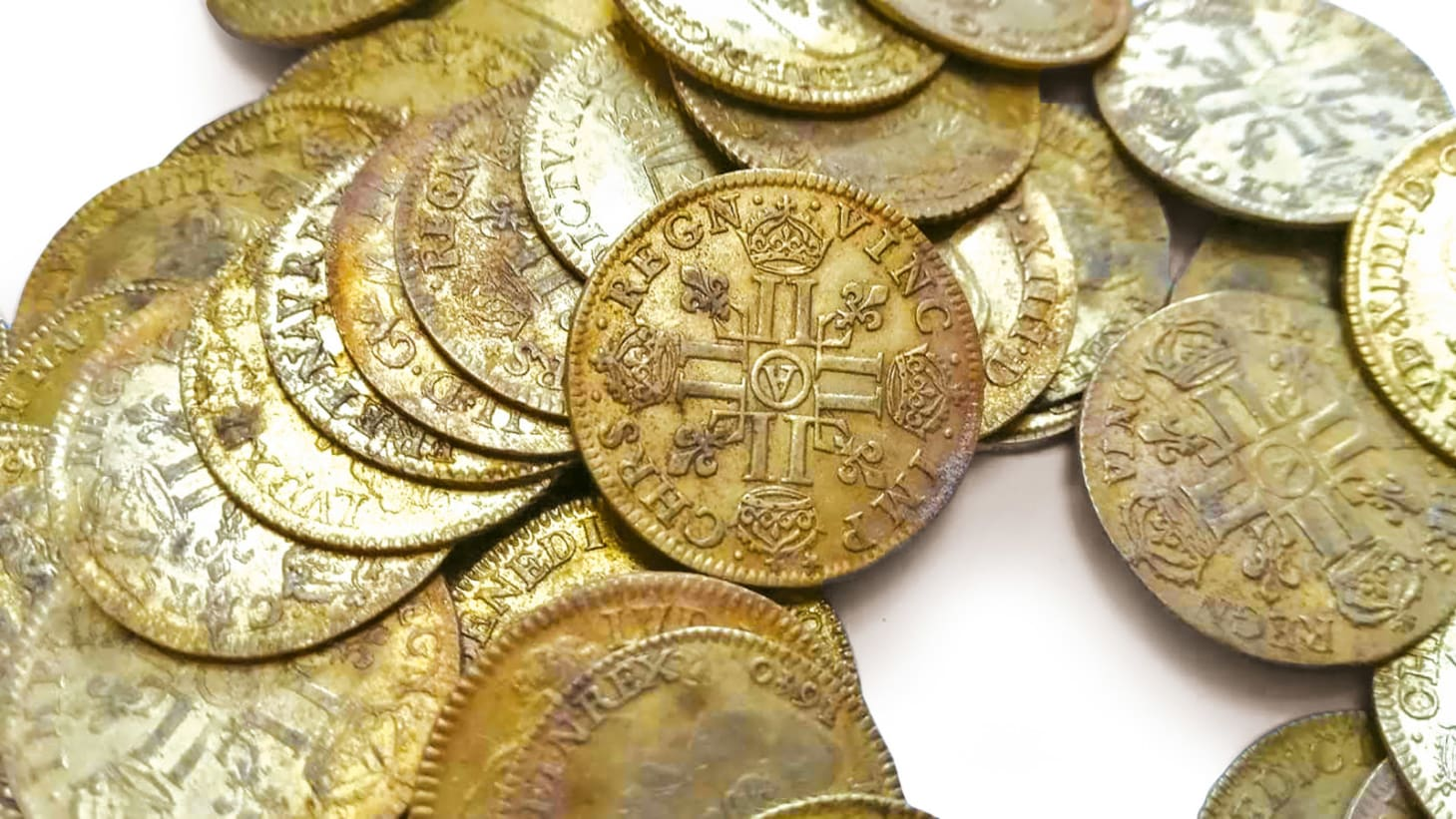 Three builders discovered a stash of 239 century gold coins at a manor in Plozévet, Brittany in 2019, which could earn up to €300,000 ($356,490) at auction in September, 2021.