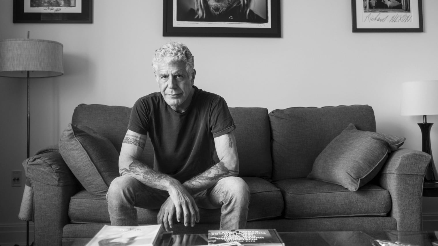 """NEW YORK, NEW YORK - APR 1: Anthony Bourdain at home in New York City, New York on April 1, 2018.  (photo by David Scott Holloway)  """"Parts Unknown -  Lower Eastside""""   25219_031"""