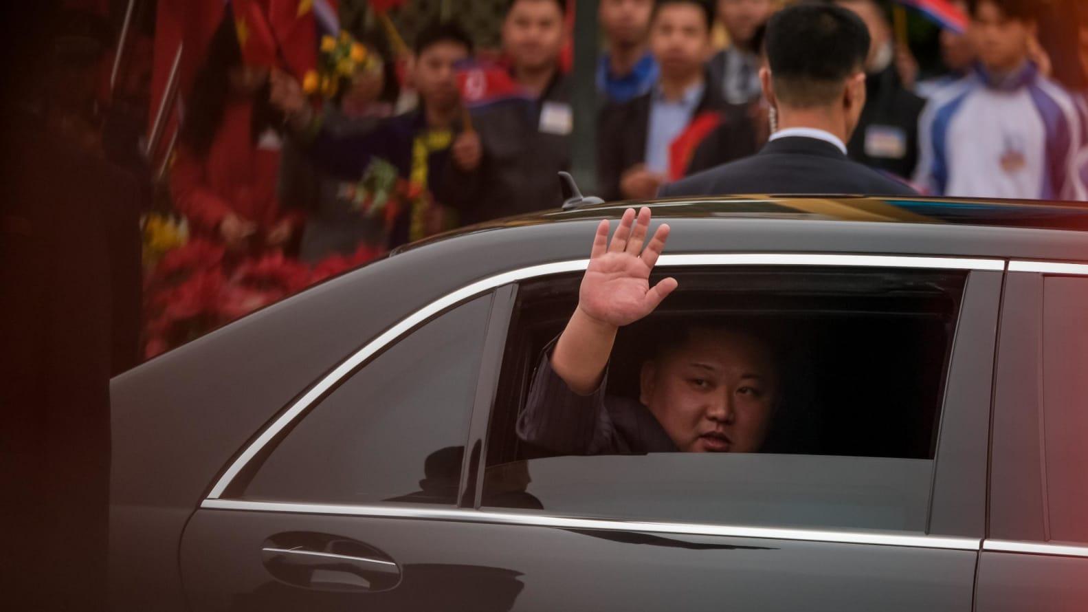 Kim Jong Un in Mercedes