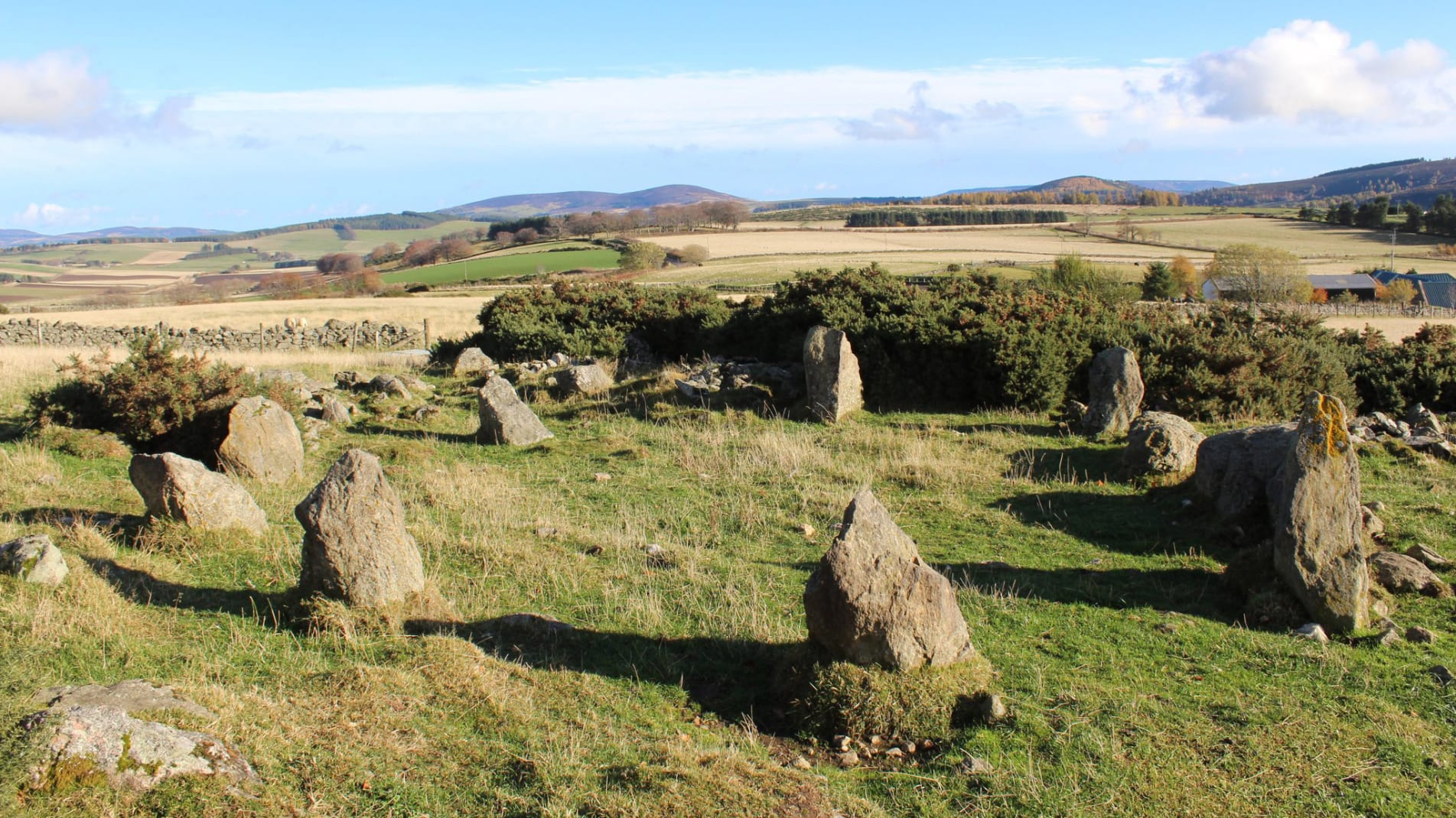The stone circle in Leochel-Cushnie, Aberdeenshire, UK is a lot less ancient than it looks.