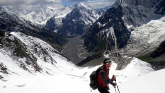 """""""The real highlight was just being there. Being in that environment,"""" says alpinist Tim Oates of his 2014 Muchu Chhish summit attempt."""