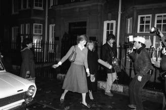 Princess Diana outside her flat in November 1980.