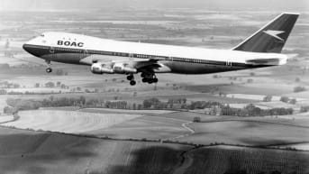 The Boeing 747-136.