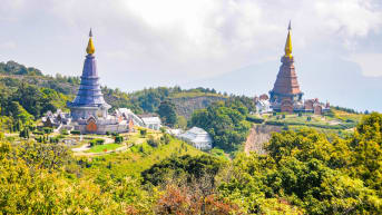 Chiang Mai's Doi Inthanon National Park is home to Thailand's highest mountain.