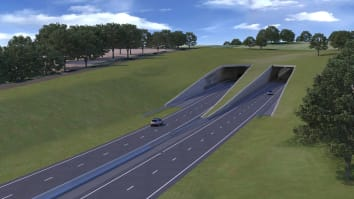 The road developers are planning to build a 1.8-mile tunnel near Stonehenge in a bid to hide the busy highway.
