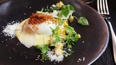 A Perfectly Poached Egg With Corn And Parmesan At Septime The No Choice Menu
