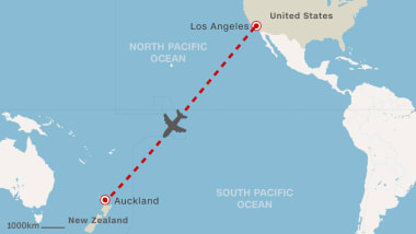 New Zealand Route Map.American Airlines Sets Up Direct L A Auckland Route Cnn Travel