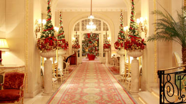 The Ritz London Amps Up Its Red And Gold For Holidays