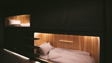 c869b3a2ec5e The wooden paneled pods won a Red Dot Design Award in 2018.