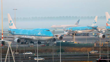 An Early Morning View Of Amsterdam Schiphol Airport From The Citizenm Hotel