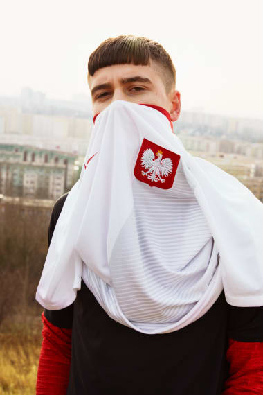 56671ebdc A campaign image showing Nike s 2018 kit for the Polish football team.  Today