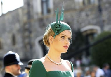 25fee54d Lady Kitty Spencer opted for a refined teal green fascinator with a knotted  sculptural feature.