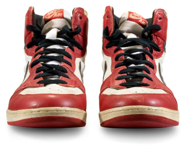 game-worn sneakers sell for a record