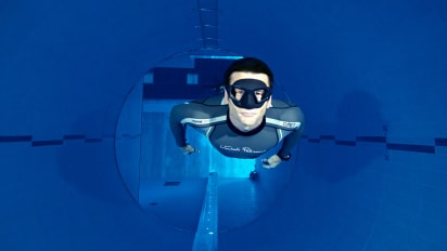 World's deepest swimming pool: Plunge into Y-40 Deep Joy