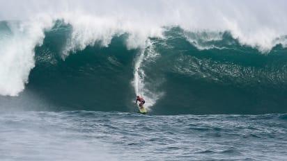 0d3102e9eb Professional surfer John John Florence at Quiksilver in Memory of Eddie  Aikau in Waimea