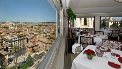 Imàgo Restaurant Is At The Top Of Spanish Steps Arguably Best View In