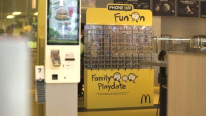 McDonald's offers to lock up your smartphone for more family