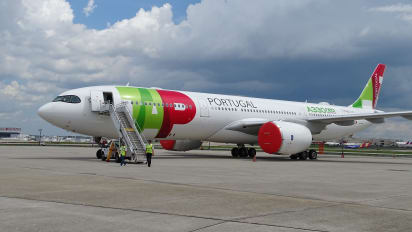 a new airbus a330 900neo owned by tap air portugal airlines at atlantas hartsfield jackson