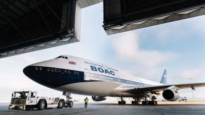 Olympic Airways Boeing 707 SXDBA Airplane in flight t