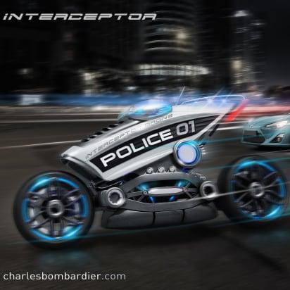 03 Driverless Police Motorcyle Trnd