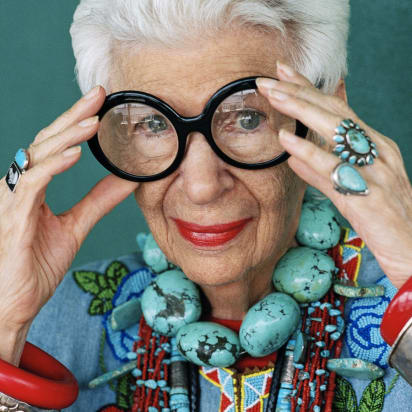 fccef7269a Iris Apfel signs with IMG - CNN Style