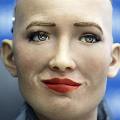 How Sophia The Robot Copies Human Facial Expressions Cnn Style