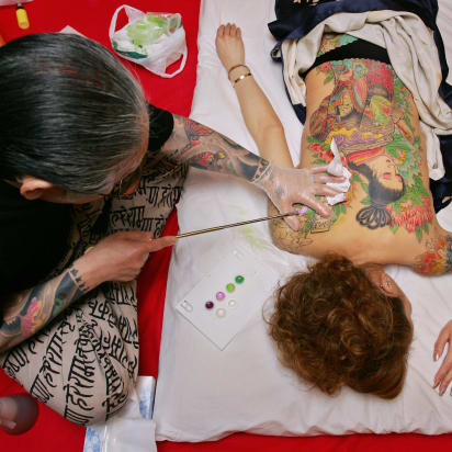 90c7d49aafea5 Fading ink: Japan's 'hand-carved' tattoo masters fight to keep their art  alive