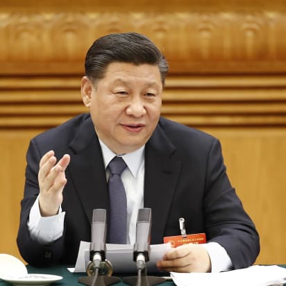 Gray leap forward: Xi Jinping shows natural hair color in a rare ...
