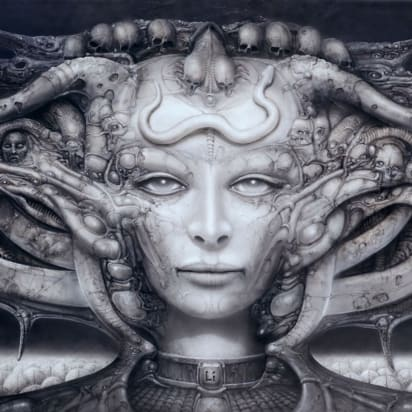Attractive Female Alien Concept Art