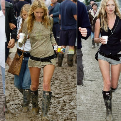 ccb1884d308 Kate Moss at Glastonbury: Remember when she wore rain boots? - CNN Style