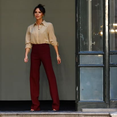 Victoria Beckham launches beauty line during London Fashion