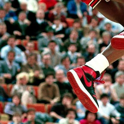 Michael Jordan's sneakers and NBA ban