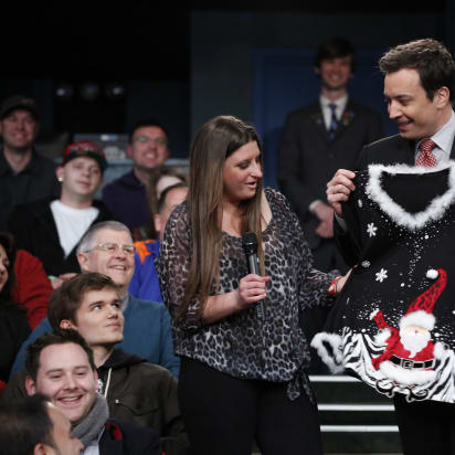 Who Helps Jimmy Fallons Ugly Christmas Sweater 2020? A cozy history of the ugly Christmas sweater   CNN Style
