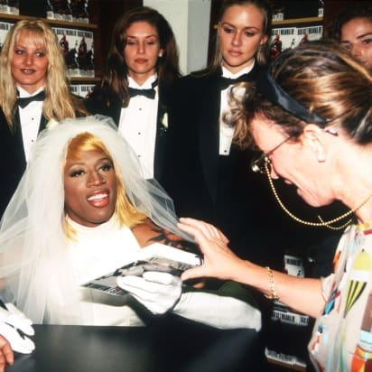 Remember When Dennis Rodman Wore A Wedding Dress Cnn Style