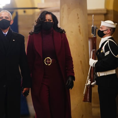 Michelle Obama wows presidential inauguration wearing Sergio Hudson outfit - CNN Style