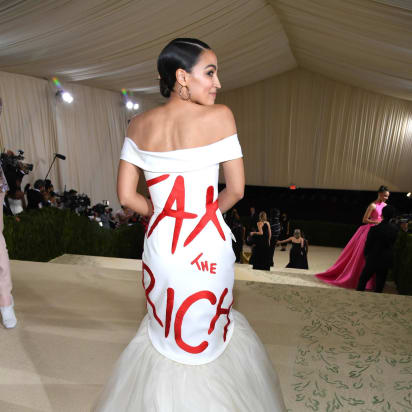 AOC caused a stir with her statement-making Met Gala gown - CNN Style