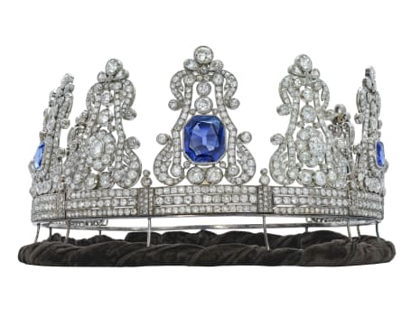 The crown of Maria II, whose daughter married Stephanie de Beauharnais' grandson, is also part of the Christie's sale.