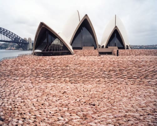 Tunick's 2010 installation The Base, took place in front of the Sydney Opera House in 2010.