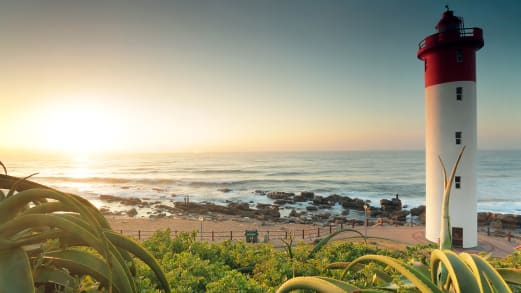 Beautiful south africa Sunset view from Umhlanga beachfront