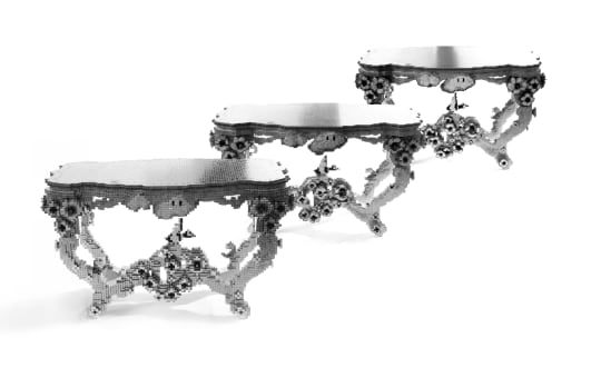 This Series Of Tables Was Made From Reprogrammable Building Blocks Called  Voxels. It Was Built