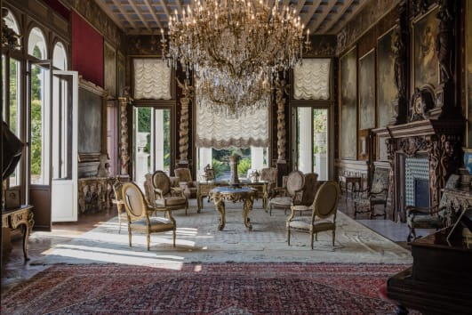 a luxurious sitting room inside villa les cedres - Biggest House In The World Inside