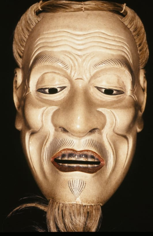 Ishio Jo Mask Pictured Above Is A Mask Of Old Man Often Used
